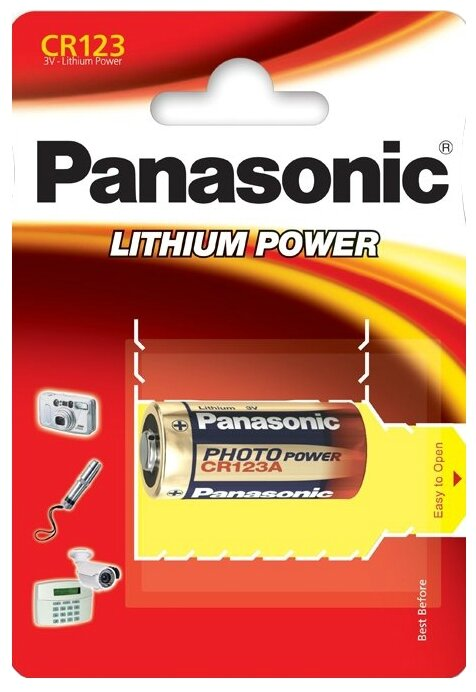 Батарейка Panasonic Lithium Power CR123