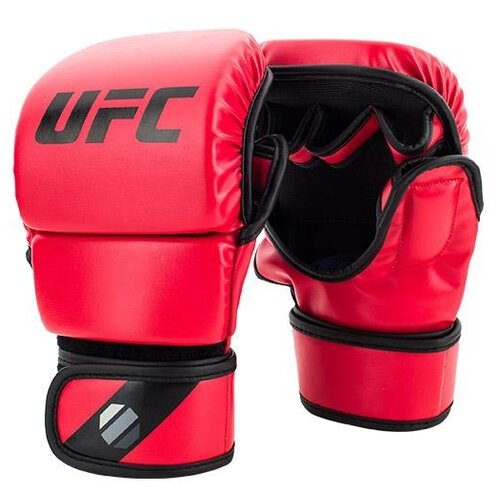 Тренировочные перчатки UFC Sparring для MMA красный S/M 8 oz груша ufc кожаная скоростная 9х6 красный черный