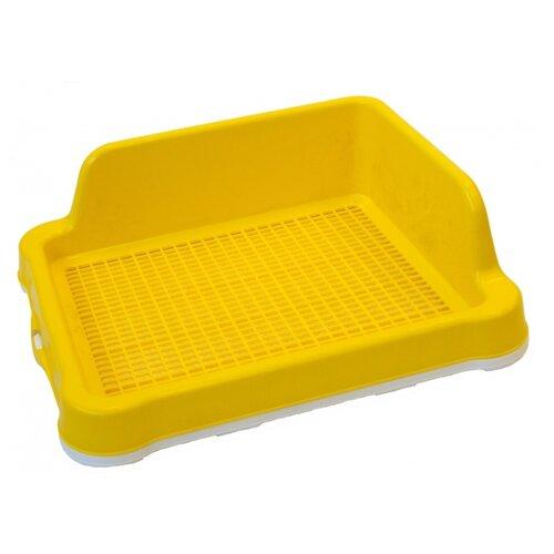 Туалет для собак Шурум-бурум 2КУХ00034 48.5х40.5х15 см желтый