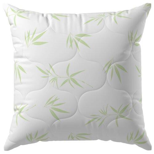Подушка Волшебная ночь Бамбук 70 х 70 см белый одеяло волшебная ночь бамбук 140 х 205 см белый