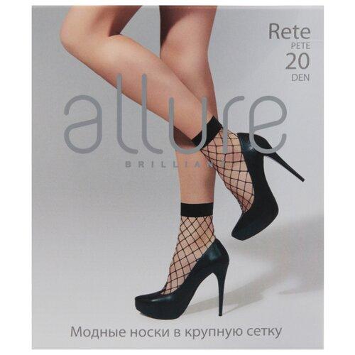 Капроновые носки ALLURE Rete maxi 20 den, размер универсальный, nero