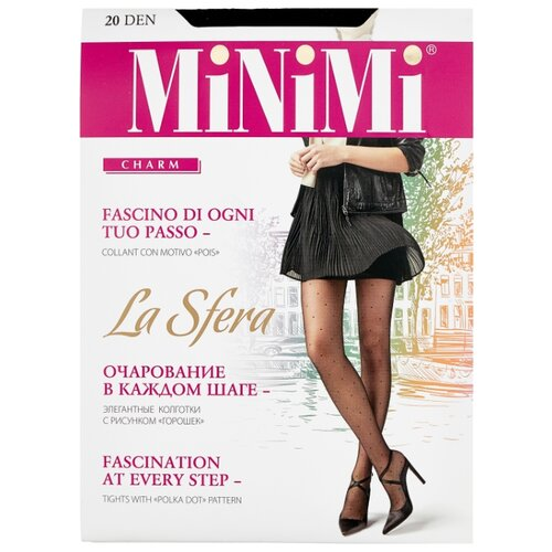 Колготки MiNiMi La Sfera 20 den, размер 2-S/M, nero (черный) колготки minimi la sfera 20 den размер 3 m daino бежевый