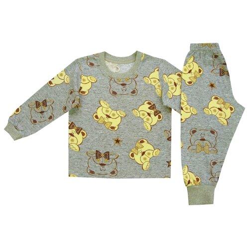 Пижама ПАНДА дети размер 98, серыйДомашняя одежда<br>