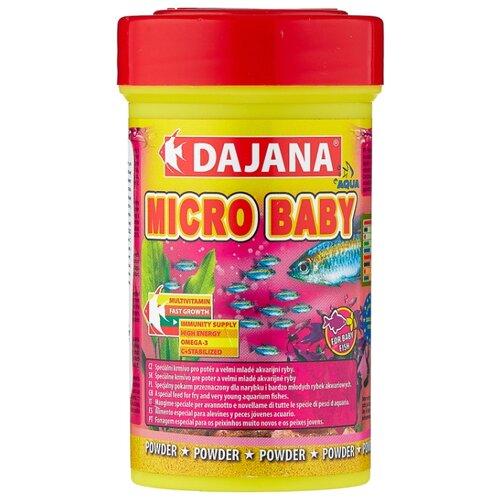 Сухой корм для рыб Dajana Pet Micro Baby 100 мл 50 г sera sera fd mixpur корм для рыб сублимированный мотыль трубочник дафния криль 100 мл