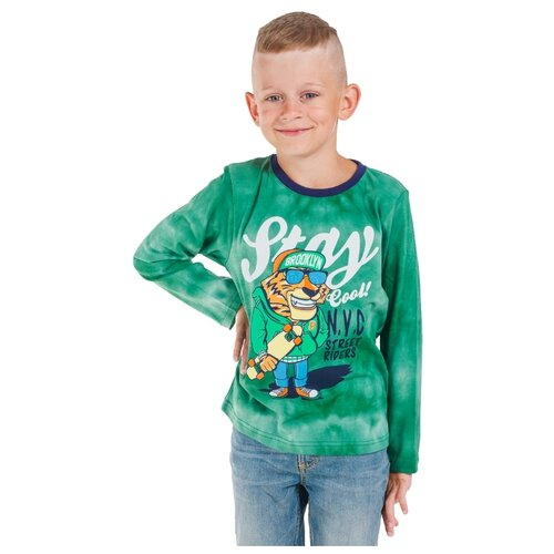 Лонгслив Belka размер 92, зеленый