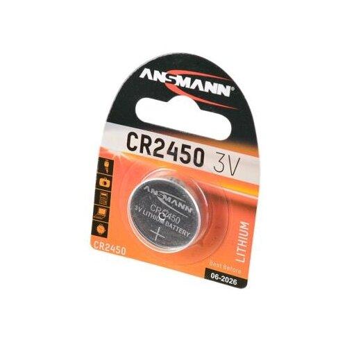 Батарейка ANSMANN CR2450 1 шт блистер батарейка ansmann cr2025 1 шт блистер
