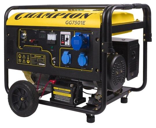 Бензиновый генератор CHAMPION GG7501E (6000 Вт)