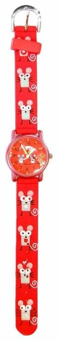 Наручные часы Тик-Так H101К-2 Красные мыши