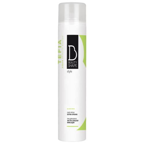 Tefia Beauty Shape лак для волос Hair Spray Extra Strong, экстрасильная фиксация, 500 мл лак для волос extra control fragrance free hair spray 400мл