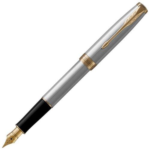PARKER перьевая ручка Sonnet Core F527, черный цвет чернил parker ручка роллер sonnet core t529 черный цвет чернил
