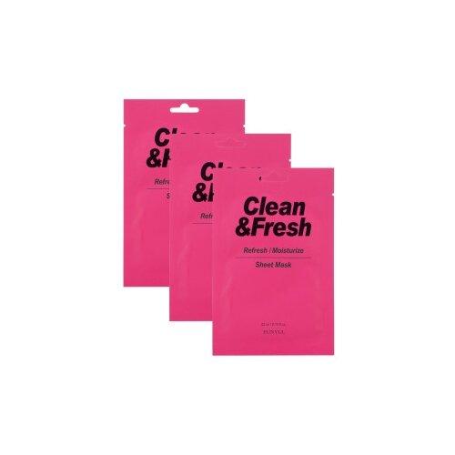 Eunyul тканевая маска Clean & Fresh для освежающего и увлажняющего эффекта, 22 мл, 3 шт. eunyul маска clean