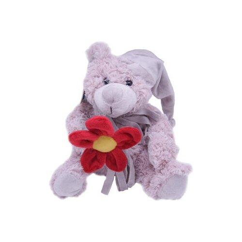 Мягкая игрушка Magic Bear Toys Мишка Дилан в шапке и шарфе с цветком 23 смМягкие игрушки<br>