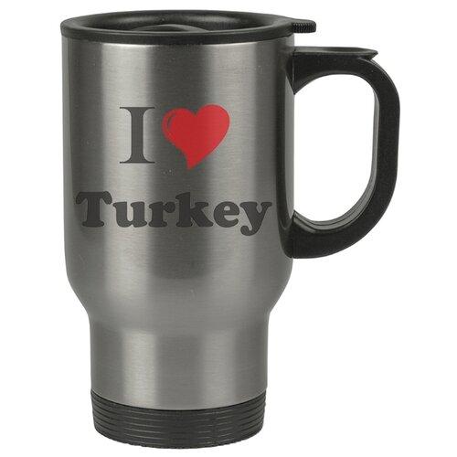 Автомобильная термокружка I love Turkey