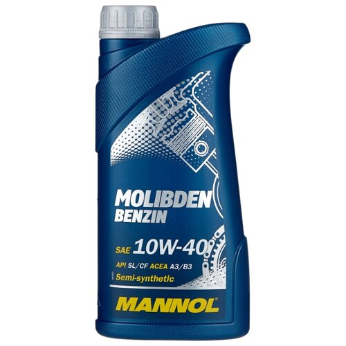 Моторное масло Mannol Molibden Benzin 10W-40 1 л моторное масло mannol gasoil extra 10w 40 1 л
