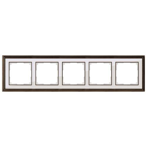 Фото - Рамка 5п WerkelWL17-Frame-05, бронза/белый рамка werkel antik бронза wl07 frame 02
