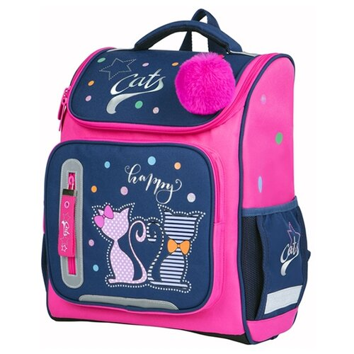 Купить Berlingo ранец Classic Happy Cats, розовый/синий, Рюкзаки, ранцы