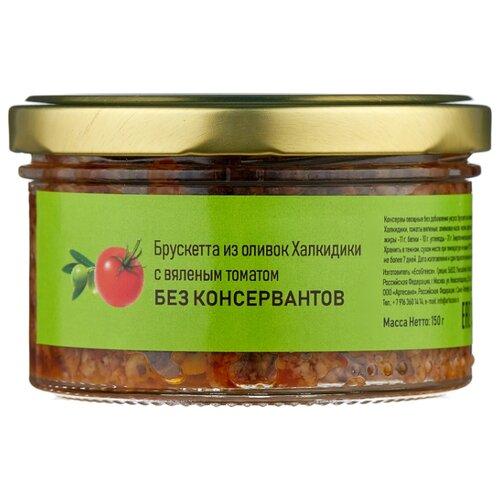 OLIVATECA Брускетта из оливок сорта Халкидики с вялеными томатами, стеклянная банка 150 г
