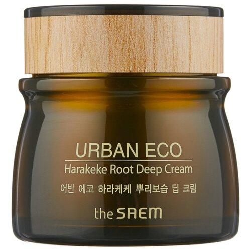 The Saem Urban Eco Harakeke Root Deep Cream Глубоко увлажняющий крем для лица с экстрактом новозеландского льна, 60 мл артколор maxi blond осветлитель для волос с экстрактом белого льна 30г 60 мл