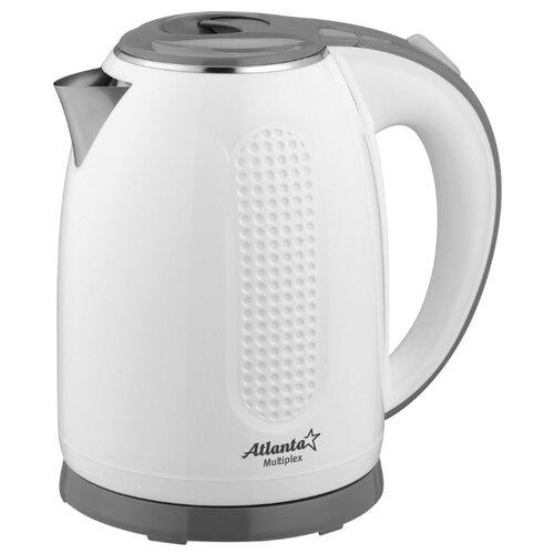 Чайник Atlanta ATH-2427, белый/серый чайник atlanta ath 2461 белый