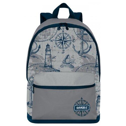 Рюкзак Grizzly RQ-007-4/1 20 (синий-серый) рюкзак городской grizzly цвет серый 25 л ru 614 1 4