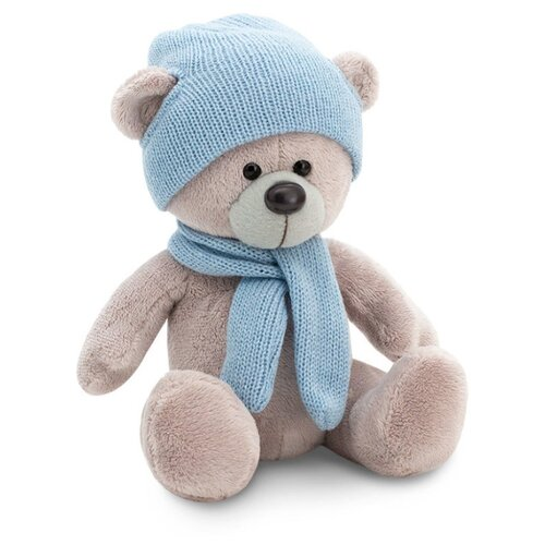 Мягкая игрушка Orange Toys Медведь Топтыжкин серый в шапке и шарфе 25 см