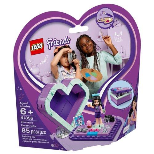 Конструктор LEGO Friends 41355 Шкатулка-сердечко Эммы lego friends 41354 шкатулка сердечко андреа конструктор