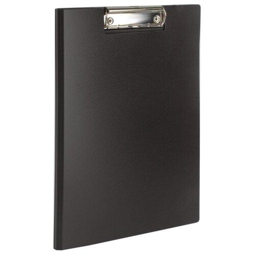 BRAUBERG Папка-планшет с верхним прижимом и крышкой, А4 черный канцелярия brauberg папка планшет contract а4 с прижимом и крышкой