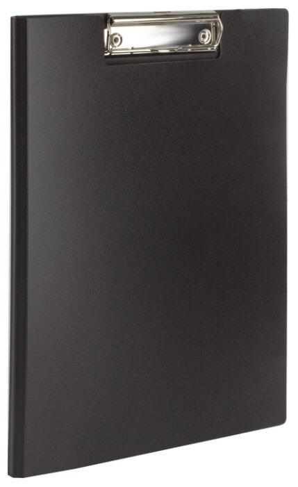 Купить BRAUBERG Папка-планшет с верхним прижимом и крышкой, А4 черный по низкой цене с доставкой из Яндекс.Маркета (бывший Беру)