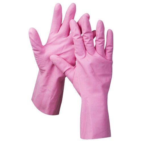 Перчатки ЗУБР 11250, 1 пара, размер L, цвет розовый