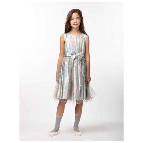 Купить Платье Смена размер 152/76, серебро, Платья и сарафаны