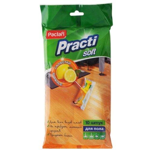 Салфетки для пола Paclan Practi Soft влажные 10 шт