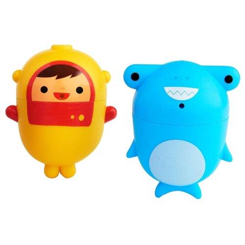Купить Набор для ванной Munchkin Дайвер и акула (1120377) голубой / желтый, Игрушки для ванной