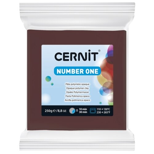 Купить Полимерная глина Cernit Number one коричневая (800), 250 г, Глина