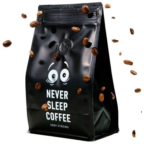 Кофе в зернах Never Sleep Coffee, арабика/робуста, 250 г