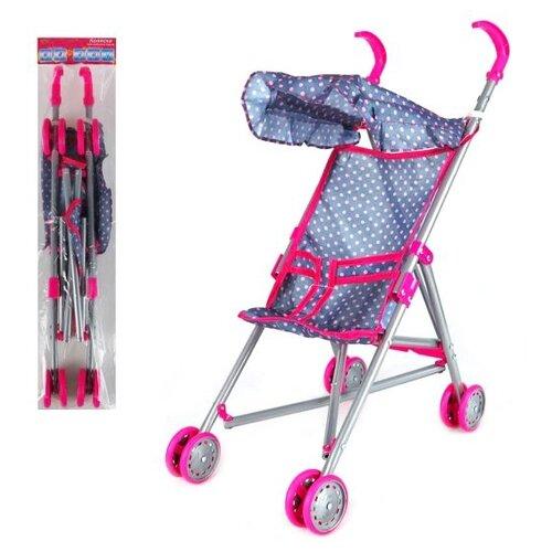 Прогулочная коляска Наша игрушка Конфетти M7506-2 розовый/синий