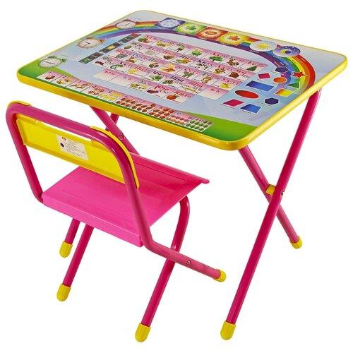 Купить Комплект ДЭМИ стол + стул 1 Алфавит 60x45 см розовый, Парты и столы