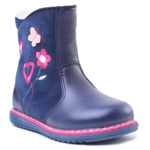 Сапоги playToday размер 21, темно-синий/розовый резиновые сапоги playtoday light magic 382215 размер 33 розовый темно серый