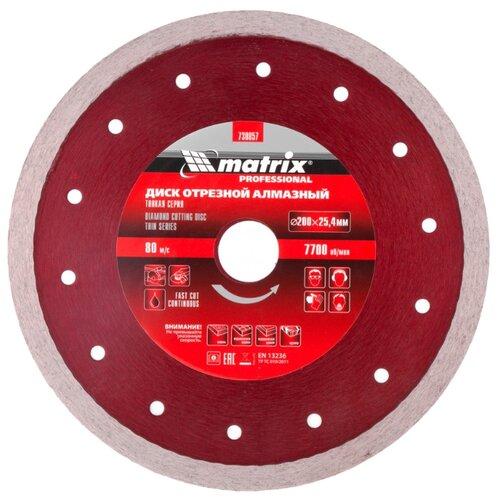 Диск алмазный отрезной 200x2.1x25.4 matrix 730857 1 шт. диск отрезной алмазный matrix professional 73180
