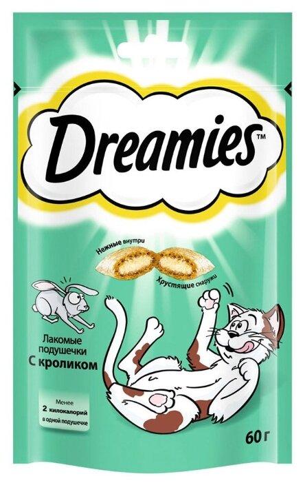Лакомство для кошек Dreamies Подушечки с кроликом