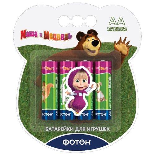 Фото - Батарейка ФОТОН AA/LR6 Маша и медведь 4 шт блистер кукла карапуз маша в костюме матроса 25 см