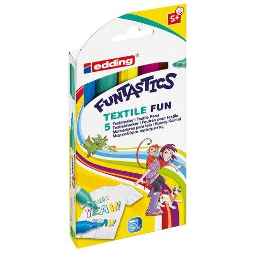 Edding Фломастеры 17-Funtastics 2 - 3 мм, 5 шт. edding фломастеры 15 funtastics 1 мм 12 шт разноцветные