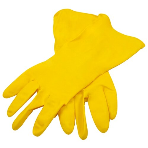 Перчатки aQualine бытовые легкие, 1 пара, размер L, цвет желтыйПерчатки<br>
