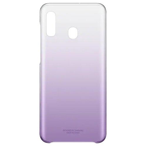 Чехол-накладка Samsung EF-AA205 для Galaxy A20 SM-A205F фиолетовый аксессуар чехол накладка samsung galaxy sm e700 e7 activ silicone red mat 46703