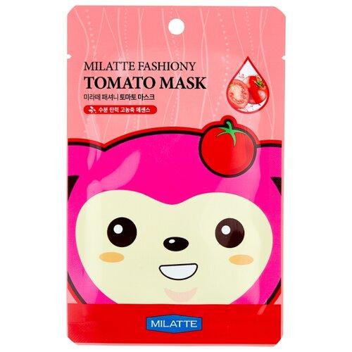 Фото - Milatte Маска для лица тканевая томатная Fashiony Tomato Mask Sheet, 21 г маска на тканевой основе для лица с экстрактом красного женьшеня milatte fashiony ginseng mask sheet