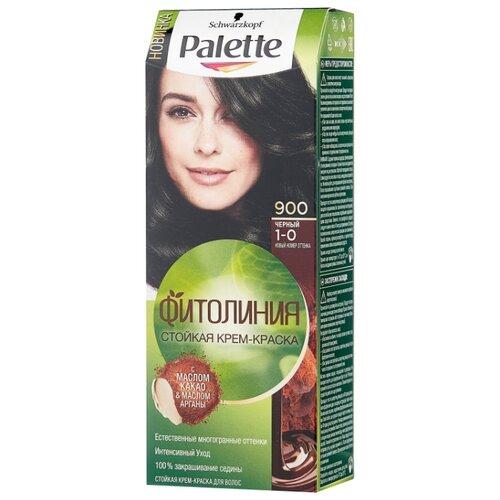 Фото - Palette Фитолиния Стойкая крем-краска для волос, 900 (1-0) Черный, 110 мл palette фитолиния стойкая крем краска для волос 868 3 68 шоколадно каштановый
