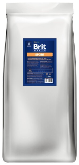 Корм для собак Brit Premium курица 18 кг