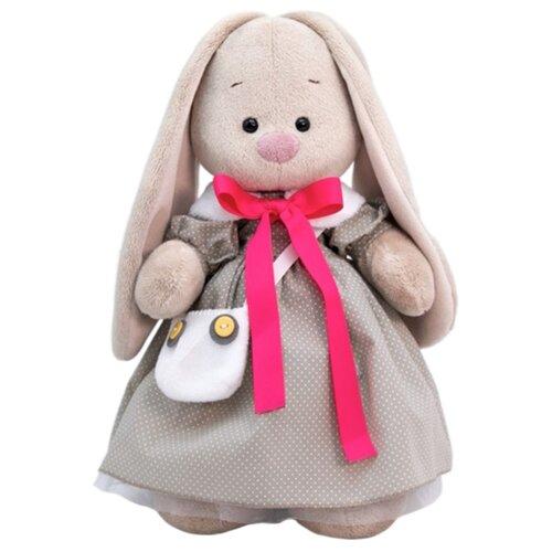 Мягкая игрушка Зайка Ми в платье и с сумкой-сова 25 см мягкая игрушка зайка ми в платье в стиле кантри 25 см