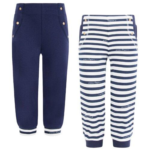 Фото - Брюки lucky child размер 28 (92-98), синий/белый пижама lucky child размер 28 92 98 полосатый