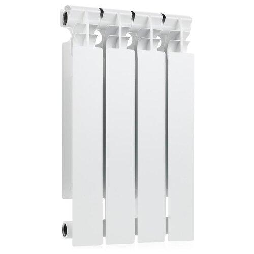 Радиатор секционный биметаллический Halsen BS 500/100 x4 4 секций, подключение боковое правое RAL 9016