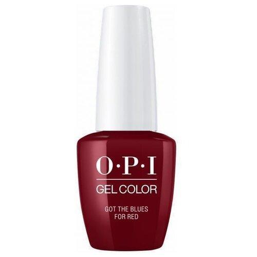 Гель-лак для ногтей OPI Classics GelColor, 15 мл, оттенок Got the Blues for Red лак opi nail lacquer classics 15 мл оттенок she's a bad muffuletta